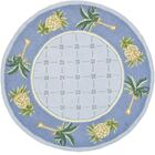 Hogle Light Blue/ Blue Novelty Area Rug Rug Size: Round 5'6
