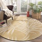 Palmnue Hand-Hooked Beige Area Rug Rug Size: Rectangle 4' x 6'