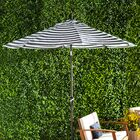 Priscilla 9' Market Umbrella Frame Color: Bronze, Fabric Color: Olefin - Navy White Cabana Stripe