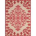 Farley Red Indoor/Outdoor Area Rug Rug Size: Rectangle 7'10