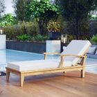 Elaina Teak Chaise Lounge Color: Natural White