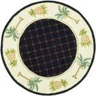 Hogle Black/Ivory Novelty Rug Rug Size: Round 3'