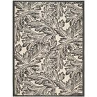 Alberty Sand/Black Outdoor Area Rug Rug Size: Rectangle 7'10