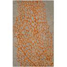 Morphou Hand-Hooked Gray/Orange Area Rug Rug Size: Runner 2'3
