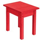Alanna Side Table Color: Red, Size: 17