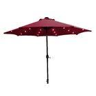 Solar 9' Market Umbrella Fabric Color: Red