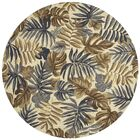Monadnock Hand-Hooked Camel/Gray Area Rug Rug Size: Round 7'10