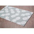 Pritchard Pineapple Gray Indoor/Outdoor Area Rug Rug Size: Rectangle 6' x 9'