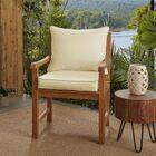 Hanson Indoor/Outdoor Sunbrella Dining Chair Cushion Fabric: Antique Beige