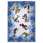 Wilda Friendly Skies Blue Area Rug Rug Size: Rectangle 3'3