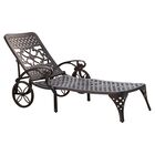 Van Glider Chaise Lounge Color: Black