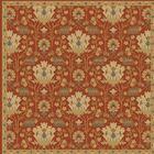 Kempinski Hand-Tufted Red/Beige Area Rug Rug Size: Square 4'