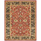 Bavis Red/Black Area Rug Rug Size: Round 10'