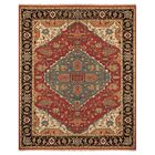 Barney Floral Handmade Red/Brown Area Rug Rug Size: Rectangle 5'6