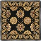 Balthrop Black Area Rug Rug Size: Square 6'
