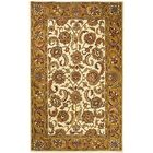 Balthrop Ivory/Gold Area Rug Color: Round 4' x 4', Rug Size: Rectangle 3'6