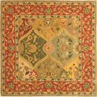 Balthrop Red/Yellow Floral Area Rug Rug Size: Square 6'