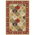 Barton Red/Ivory Area Rug Rug Size: Rectangle 5'3