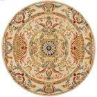 Chaplain Floral Area Rug Rug Size: Round 6'