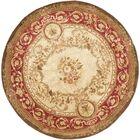 Loren Gold/Red Area Rug Rug Size: Round 8'