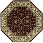 Bayhills Brick/Brown Area Rug Rug Size: Octagon 5'3