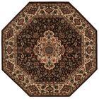 Bayhills Chocolate/Beige Area Rug Rug Size: Octagon 5'3