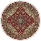 Aria Hand-Woven Area Rug Rug Size: Round 8'