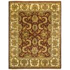 Drumroan Hand-Knotted Red/Beige Area Rug Rug Size: Round 6'