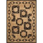 Fontenelle Hand-Tufted Black/Beige Area Rug Rug Size: Rectangle 9'9