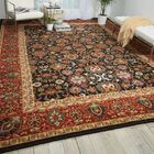 Charleson Persimmon/Black Area Rug Rug Size: Rectangle 8'6
