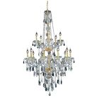 Abram 15-Light Candle Style Chandelier Color / Crystal Color / Crystal Trim: Golden Teak (Smoky) / Strass Swarovski