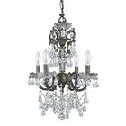 Markenfield 4-Light Candle Style Chandelier Crystal Type: Majestic Wood Polished