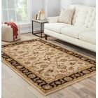 Wetheral Beige/Ebony Area Rug Rug Size: Rectangle 4' x 6'