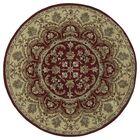 Quays Burgundy Area Rug Color: Round 9'9