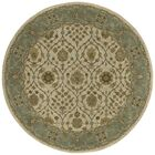 Quays Green/Tan Area Rug Rug Size: Round 3'9