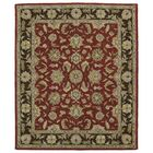 Barkell Red/Black Area Rug Rug Size: Rectangle 8' x 11'