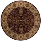 Mira Monte Burgundy Area Rug Rug Size: Round 7'10