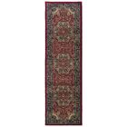 Shelburne Traditional Red/Blue Area Rug Rug Size: Runner 2'3