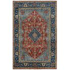 Domaine Hand-Knotted Rust/Sapphire Area Rug Rug Size: Rectangle 5'6