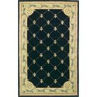 Totternhoe Black Fleur-De-Lis Rug Rug Size: Rectangle 8'6