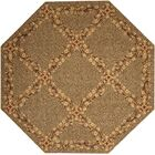 Forest River Sand Area Rug Rug Size: Octagon 8'