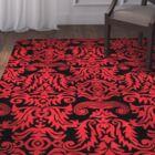 Levens Hand-Tufted Black/Red Area Rug Rug Size: Rectangle 7'6