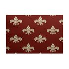 Bayliff Fleur de Lis Ikat Print Orange Indoor/Outdoor Area Rug Rug Size: Rectangle 3' x 5'