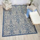 Bedervale Ivory/Blue Indoor/Outdoor Area Rug Rug Size: Rectangle 9'6