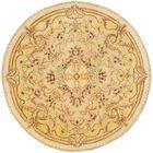 Bedgood Beige/Light Gold Area Rug Rug Size: Round 4' x 4'