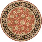 Weaver Red Rug Rug Size: Round 4'
