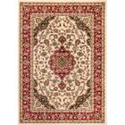 Belliere Medallion Ivory Area Rug Rug Size: Rectangle 5'3