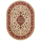 Belliere Medallion Ivory Area Rug Rug Size: Oval 6'7