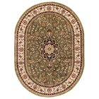 Belliere Medallion Green Area Rug Rug Size: Oval 6'7