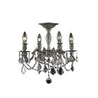 Utica 4-Light Candle Style Chandelier Crystal Color / Crystal Grade: Crystal (Clear) / Royal Cut